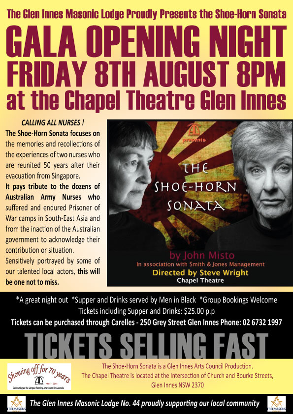 the shoehorn sonata John misto's award-winning play the shoe-horn sonata is a moving tribute to the australian nurses held prisoner by the japanese in the second world war.